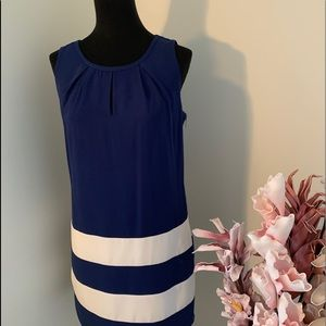 Royal blue and white dress size Small